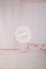 Zacht roze romantisch raam