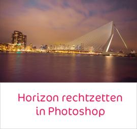 Horizon en gebouwen rechtzetten in Photoshop