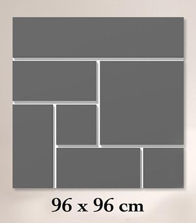 ClickBlocks Acryl compleet 96 x 96 cm (achtergrond zwart)