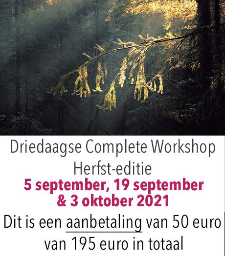 AANBETALING - Herfst Editie Driedaagse Complete Workshop Digitale Fotografie 2021