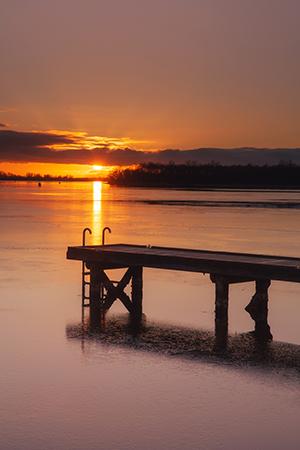 Werk aan de muur - categorie Zeeland - zonsondergang aan het Veerse Meer - in2pictures.nl fotoschool