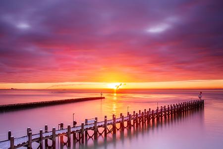 Werk aan de muur - categorie Zeeland - zonsopkomst in Vlissingen - in2pictures.nl fotoschool