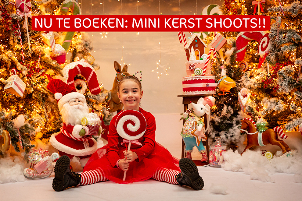 Mini kerst shoot fotoshoot fotostudio in2pictures.nl fotografie kerstmis kerst