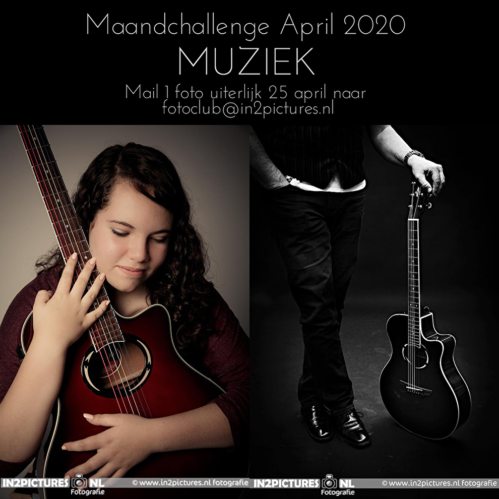 Maandchallenge April 2020 in2pictures.nl fotografie thema Muziek