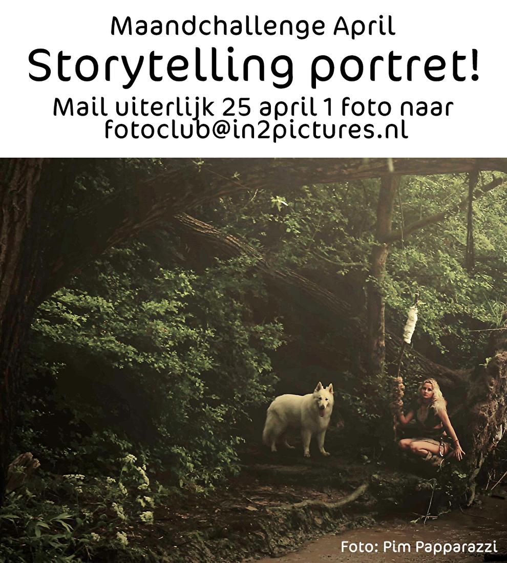 Maandchallenge fotografie fotoclub storytelling, uitdaging, opdracht, portret