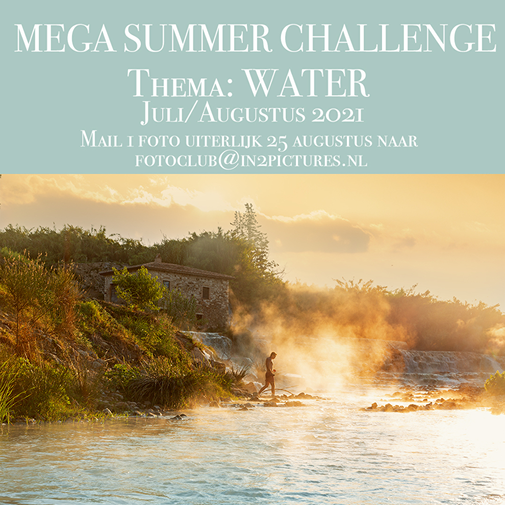 Mega Summer Challenge, fotografie challenge uitdaging in2pictures.nl fotoclub fotoschool. fotografie uitdaging