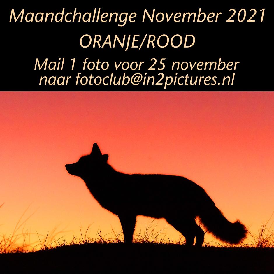 Maandchallenge november 2021 - in2pictures.nl fotoschool, fotografie, fotoclub, oranje, rood