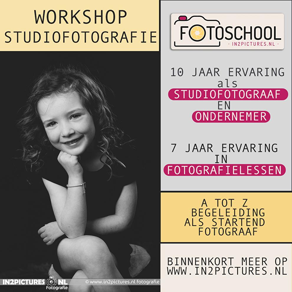 Studiofotografie opleiding in2pictures.nl fotoschool, fotostudio studiofotografie