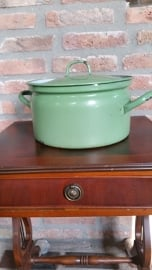 Emaille pan groen  26 cm