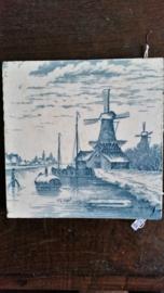 Delfts blauwe TEGEL N.S.Apol