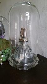 Glazen stolp met console