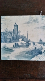 Delfts blauwe TEGEL R.Leukert