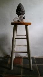 Kruk met houten zitvlak