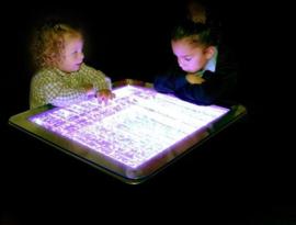 Lage tafel met bubbels - led verlichting in diverse kleuren
