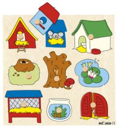 Surprise puzzel 9 dlg. dierenhuisjes