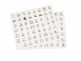 Pictogrammen stickervel medium