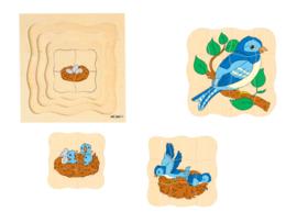 Groeipuzzel de vogel