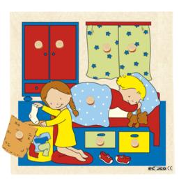Surprise puzzel 9 dlg. slaapkamer
