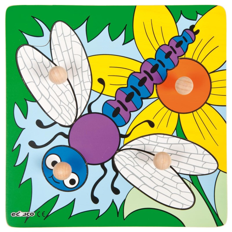 Educo puzzel met knoppen Libelle