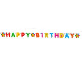 Verjaardag ballonnen letterslinger 180cm