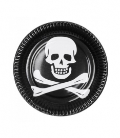 Borden piraten 23cm 6 stuks