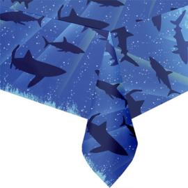 Shark haai tafelkleed plastic 137cm x 274cm
