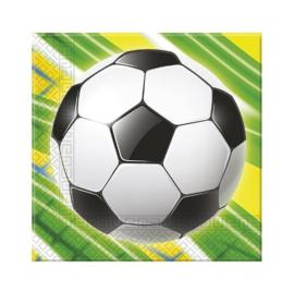 Voetbal servetten 20 stuks 33x33cm
