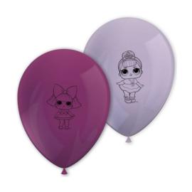 LOL Surprise ballonnen 8 stuks 28cm