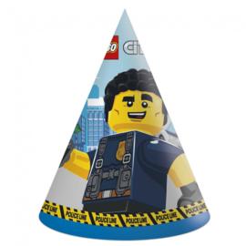 Lego City feesthoedjes 6 stuks