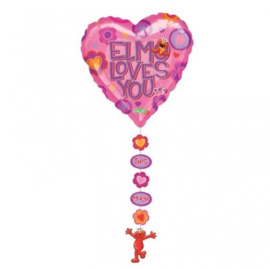 Elmo loves you this much folie ballon 61cm