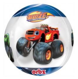 Blaze ballon doorzichtig rond 41cm