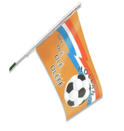 Gevelvlag oranje voetbal ole ole 90x150cm