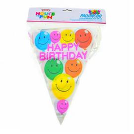 Verjaardag ballonnen slinger vlaggenlijn plastic
