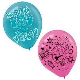Wreck it Ralph ballonnen 6 stuks