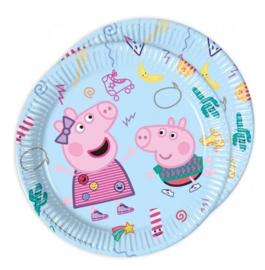Peppa Pig borden 8 stuks 23cm