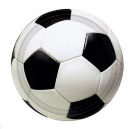 Voetbal borden 23 cm per 8 stuks