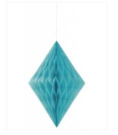Hangdecoratie turquoise 35x56cm