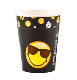 Emoji bekertjes 8 stuks 200ml