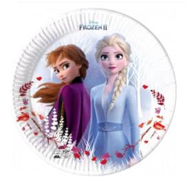 Frozen 2 bordjes 8 stuks 20cm