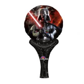 Star Wars folie ballon met handgreep 15x30cm