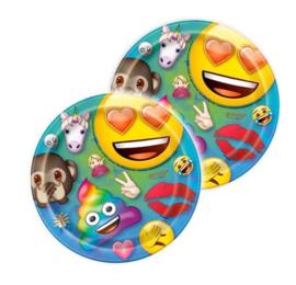 Emoji bordjes 8 stuks 18cm