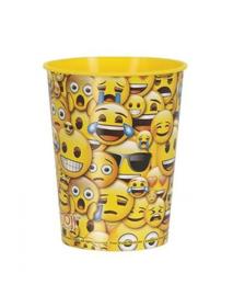 Emoji plastic beker
