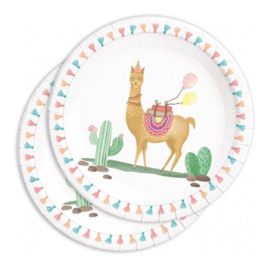 Lama borden 8 stuks 23cm