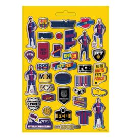 FC Barcelona stickers vellen 14,5x21,5cm