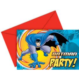 Batman uitnodigingen 6 stuks