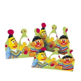 Sesamstraat Bert en Ernie kroontjes 6 stuks