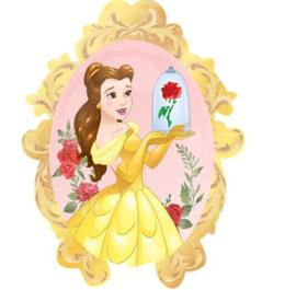 Belle en het Beest folie ballon 78cm