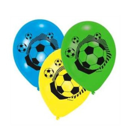 Voetbal ballonnen 6 stuks