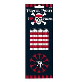 Piraten kaarsjes 12 stuks