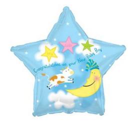 Geboorte jongen folie ballon 43cm